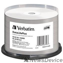 Диск Verbatim Диски CD-R 700Mb 52-x DL+White Wide Thermal Printable Cake Box (50шт) 43756