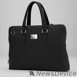 """Сумка для ноутбука Сумка Continent CL-105 Black натуральная кожа, черная, до 15,6"""" - фото 519643"""