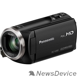 "Цифровая видеокамера Видеокамера Panasonic HC-V260 черный 2.7"", 4224 x 2376, 2.2Mpx, 50x ZOOM, AVCHD Progressive, iFrame/MP4, SD, SDHC,SDXC"
