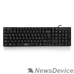 Клавиатура CBR KB 110 Black USB, Клавиатура офисн.,поверхность под карбон, переключение языка 1 кнопкой (софт)
