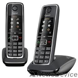 Телефон Gigaset C530  DUO черный (  2 трубки с ЖК диспл., База,Заряд. устр-во) стандарт-DECT