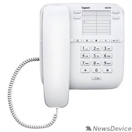 Телефон Gigaset DA310 (IM) WHITE. Телефон проводной (белый)