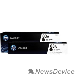 Расходные материалы HP CF283AD/CF283AF Картридж ,BlackLaserJet Pro MFP M125nw, MFP M127fw, Black, Dual pack (2х1500стр.)