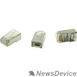 Коннектор 5bites US060A (US006A) Коннектор  RJ-45 8p8c, зол.напыление, экран. (1шт)