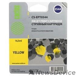 Расходные материалы Cactus C13T05444010 Картридж струйный  CS-EPT0544 желтый для Epson Stylus Photo R800/ R1800 (16,2ml)