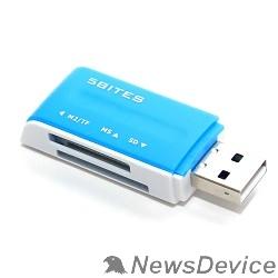 Устр-ва ч/з карт памяти 5bites RE2-102BL (RE-102BL) Устройство ч/з карт памяти  USB2.0 / ALL-IN-ONE / USB PLUG / BLUE