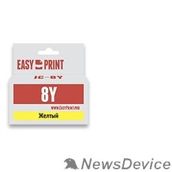 Расходные материалы Easyprint CLI-8Y Картридж (IC-CLI8Y) для Canon PIXMA iP4200//5200/Pro9000/MP500/600, желтый, с чипом