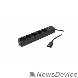 Сетевые фильтры PC PET Сетевой удлинитель AP01006-E-B 1.8м (5 розеток, входн.вилка IEC 320,выход.роз.EURO/RUS), черный 619892