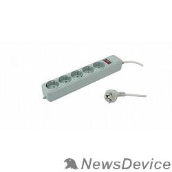Сетевые фильтры PC PET Сетевой удлинитель AP01006-1.8-G 1.8м (5 розеток, EURO, EURO/RUS), серый 619889