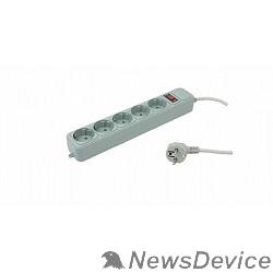 Сетевые фильтры PC PET Сетевой удлинитель AAP01006-3-GR 3м (5 розеток, EURO, EURO/RUS), серый 619890
