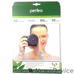 фотобумага Perfeo PF-GLA4-190/50  Бумага Perfeo глянцевая , А4 190 г/м2 ,  50л