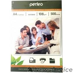 фотобумага Perfeo PF-MTA4-108/500  Бумага Perfeo матовая , А4 108 г/м2, 500 л