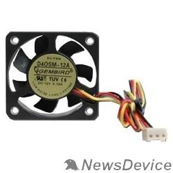 Вентилятор Gembird Вентилятор 40x40x10, 3pin, шнур 7см,  D40SM-12A