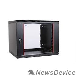 Монтажное оборудование ЦМО Шкаф телекоммуникационный настенный разборный 9U (600х520) дверь стекло, цвет черный (ШРН-Э-9.500-9005)