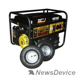 Huter Генераторы Huter DY6500LX 64/1/15 Электрогенератор с колёсами и аккум четырехтактный, 5000Вт, 220В/50Гц, 81Дб,принудит охлаждение,бак 22 л,расход бенз 374 г/кВтч,расход масла 6,8, габариты700х535х570 вес 74 кг