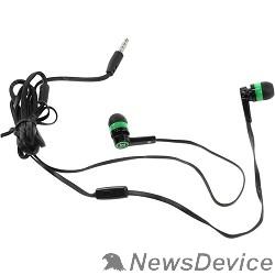 Наушники Defender Pulse 420 черный + зеленый, вставки 63422