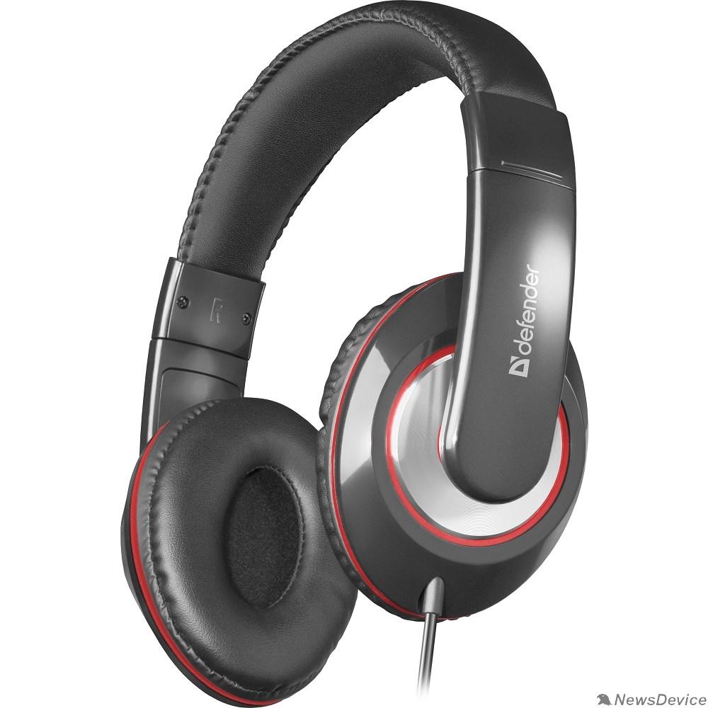 Наушники Defender Наушники с микрофоном Accord 171 черный, кабель 1,2 м 63171