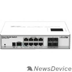 Сетевое оборудование MikroTik CRS112-8G-4S-IN Коммутатор Cloud Router Switch управляемый 8 портов 10/100/1000Mbps