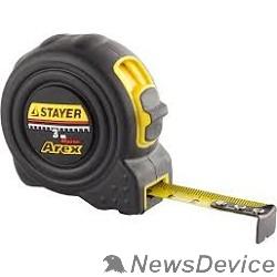 Рулетки, мерные ленты STAYER BlackMax 3м / 16мм рулетка в ударостойком полностью обрезиненном корпусе  и двумя фиксаторами 3410-03_z02