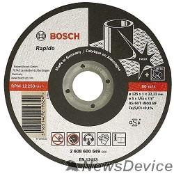 Bosch BOSCH 2608600549 ОТРЕЗНОЙ КРУГ INOX 125Х1 ММ