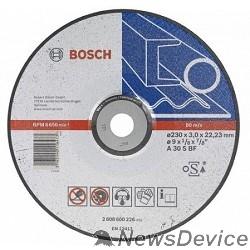 Bosch BOSCH 2608600226 ОТРЕЗНОЙ КРУГ МЕТАЛЛ 230Х3 ВОГН