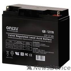 батареи Ginzzu Батарея GB-12170 (RTL) свинцово-кислотный, необслуживаемый, технология AGM, 12В / 17Ач