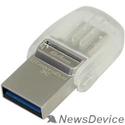 Носитель информации Kingston USB Drive 64Gb DTDUO3C/64GB USB 3.0/3.1 + Type-C