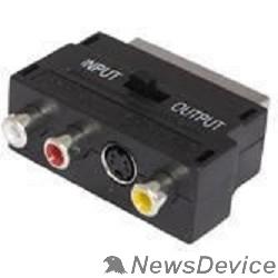 Аксессуар Адаптер Buro BSP005 Scart(m) In/Out-S-video(f)+3xRCA(f) черный ID817211