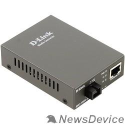 Сетевое оборудование D-Link DMC-F20SC-BXU/A1A/B1A WDM медиаконвертер с 1 портом 10/100Base-TX и 1 портом 100Base-FX с разъемом SC (ТХ: 1310 нм; RX: 1550 нм) для одномодового оптического кабеля (до 20 км)