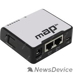 Сетевое оборудование MikroTik RBmAP2nD Беспроводной маршрутизатор mAP  WiFi + 2 порта LAN 100Мбит/сек