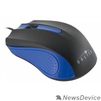 Мышь Oklick 225M черный/синий Мышь оптическая (1200dpi) USB (3but) 288233