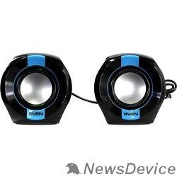 Колонки AC SVEN 150, чёрный-синий (5 Вт, питание USB)