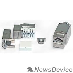Монтажное оборудование Hyperline KJNE-8P8C-C6A-90-SH-F-WH Вставка Keystone Jack RJ-45(8P8C), категория 6A, экранированная, 110 IDC, заделка с помощью NE-TOOL, белая