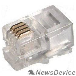 Коннектор Proconnect (05-1001-3) Джек телефонный  4P4C (100 шт.)