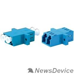 Монтажное оборудование Hyperline FA-P11Z-DLC/DLC-N/WH-BL Оптический проходной адаптер LC/UPC-LC/UPC, SM, duplex, корпус пластиковый, синий, белые колпачки