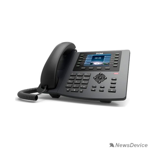 VoIP-телефон D-Link DPH-400GE/F2B IP-телефон с цветным дисплеем, 1 WAN-портом 10/100/1000Base-T, 1 LAN-портом 10/100/1000Base-T и поддержкой PoE(адаптер питания не входит в комплект поставки)
