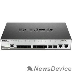 Сетевое оборудование D-Link DGS-1210-12TS/ME/B1A Управляемый коммутатор 2 уровня с 10 портами 1000Base-X SFP и 2 портами 10/100/1000Base-T