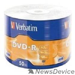 Диск Verbatim  Диски DVD-R  4.7Gb, 16-x Data Life (50 шт) (43791)