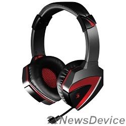Наушники A4 G501, черно(красные)  Наушники с микрофоном, 2.2м