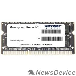 Модуль памяти Patriot DDR3 SODIMM 8GB PSD38G1600L2S (PC3-12800, 1600MHz, 1.35V)