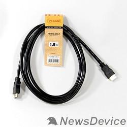 Кабель TV-COM Кабель цифровой (CG150S-1.8M) HDMI19M to HDMI19M, V1.4+3D, 1.8m 6939510810929