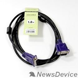 Кабель TV-COM Кабель соединительный (QCG120H-1.8M) SVGA (15M/M) 1,8m 2 фильтра 6939510844122