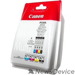 Расходные материалы Canon CLI-471C/M/Y/Bk 0401C004 Картридж для PIXMA PIXMA MG5740/MG6840/MG7740, многоцветный