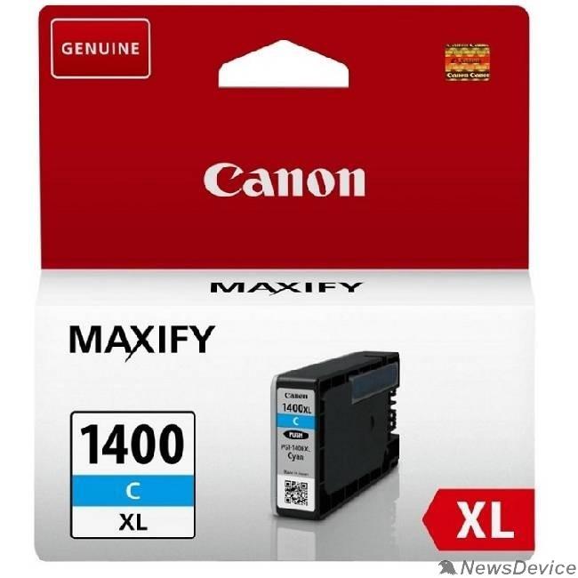 Расходные материалы Canon PGI-1400XL C Картридж струйный для MAXIFY МВ2040 и МВ2340, голубой, 900 стр. (GQ)