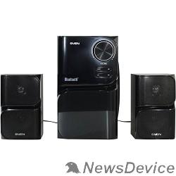Колонки SVEN MS-305 черный  акуст. система 2.1, FM-тюнер, USB/SD, дисплей, ПДУ, Bluetooth, мощн. 20 Вт+2х10 Вт, чёрн