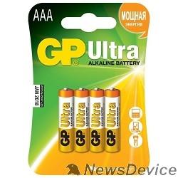 Батарейка GP 24AU-2CR4 Ultra Alkaline 24AU LR03,  4 шт AAA (4шт. в уп-ке)