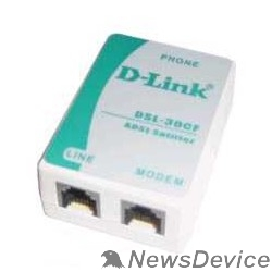 Модем D-Link DSL-30CF/RS Сплитер ADSL Annex A 1xRJ11 вход и 2xRJ-11 выход с 12cm телеф кабелем