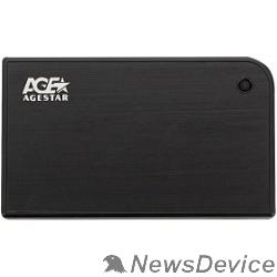 "Контейнер для HDD AgeStar 3UB2A14 BLACK USB 3.0 Внешний корпус 2.5"" SATA AgeStar 3UB2A14 (BLACK) USB3.0, алюминий, черный, безвинтовая конструкция 10604"