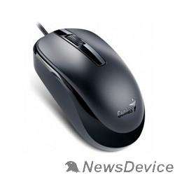 Мышь Genius Мышь DX-120 Black  оптическая, 1000 dpi, 3 кнопки+колесо прокрутки, провод 1,5 м, USB 31010105100/31010010400