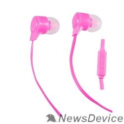 Наушники Perfeo наушники внутриканальные c микрофоном HANDY (розовые/красные) PF-HND-PNK